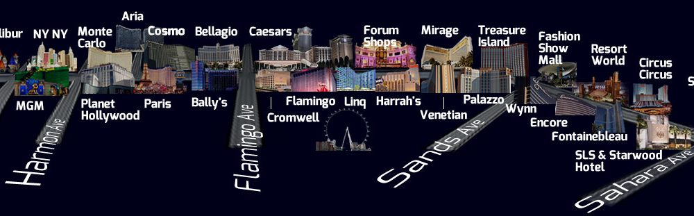 las vegas map strip online